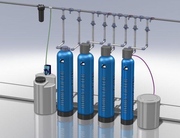 Водоподготовка для коттеджа #3. 1200 л/час (2-3 одновременно открытых крана) Растворенное железо до 6-7 мг/л